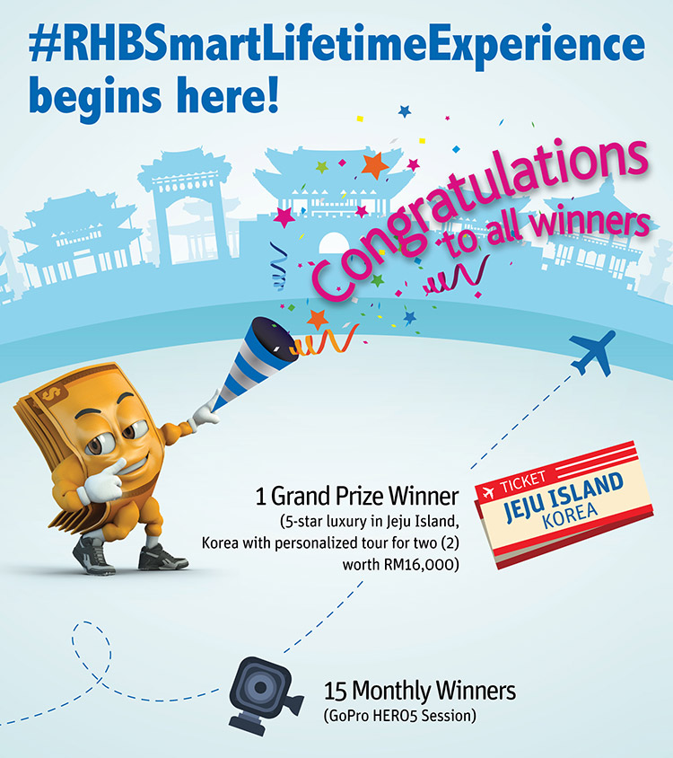Congratulation to all winners of #RHBSmartLifetimeExperience